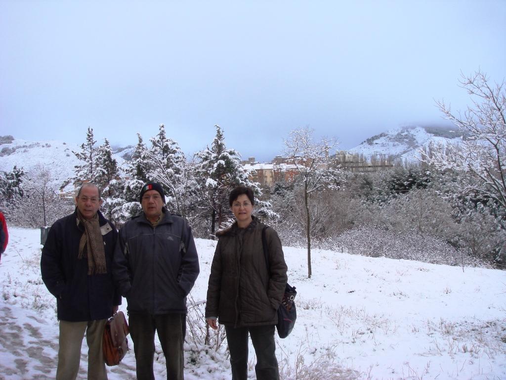 Compañeros en la nieve